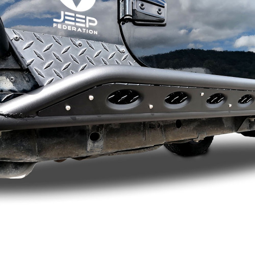 TUBE Side Steps Rock Sliders for Jeep Wrangler 4dr 2007-2018