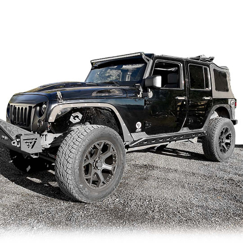Fender Delete Kit Front/Rear Set for Jeep Wrangler 2007-2018
