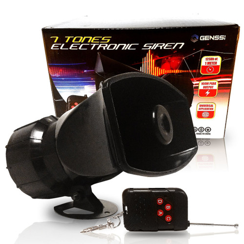 Remote Control Wireless Police Siren Emergency 7 Tone