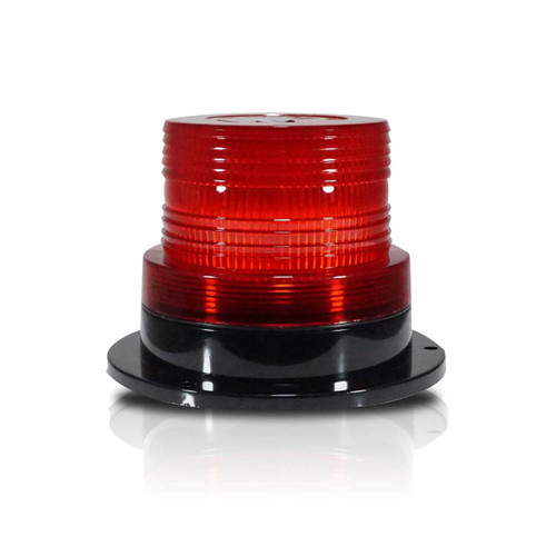 Red LED Emergency Flash Strobe and Rotating Beacon Warning Light