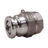 Dixon 2 1/2 in. Stainless Steel Dry Disconnect Cam & Groove Adapter x 2 in. Female NPT w/ PTFE Encapsulated Silicone Seals