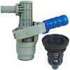 JME 2 in. RPV Closed System Poly Coupler and Valve for Totes and Drums