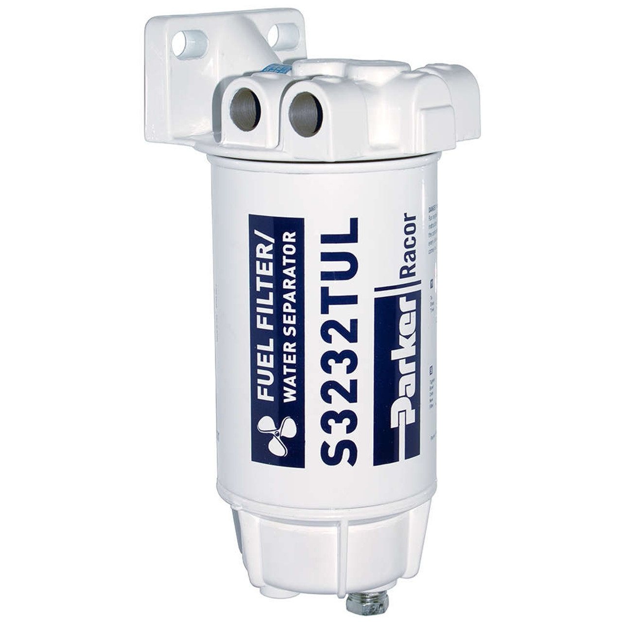 Racor Aquabloc Marine 3/8 in. 90 GPH Spin-On Gasoline Filter Assembly