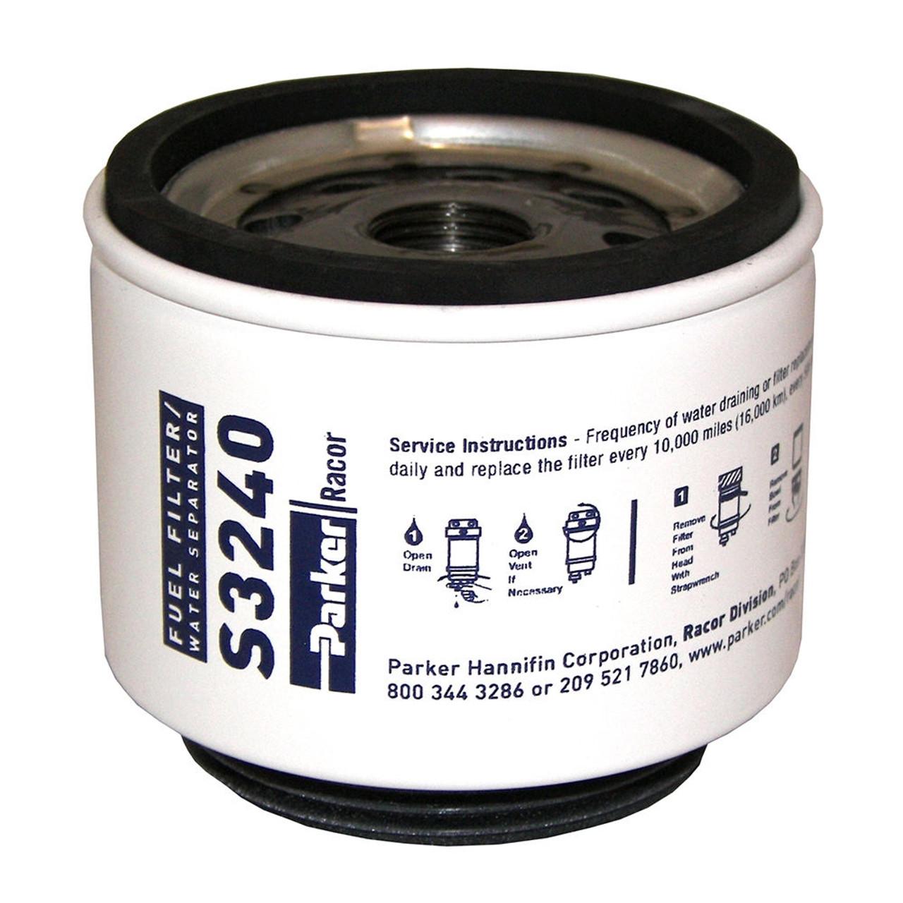 Racor M18 Marine Aquabloc Replacement Gasoline Filters S3240 12 Parker Fuel Qty