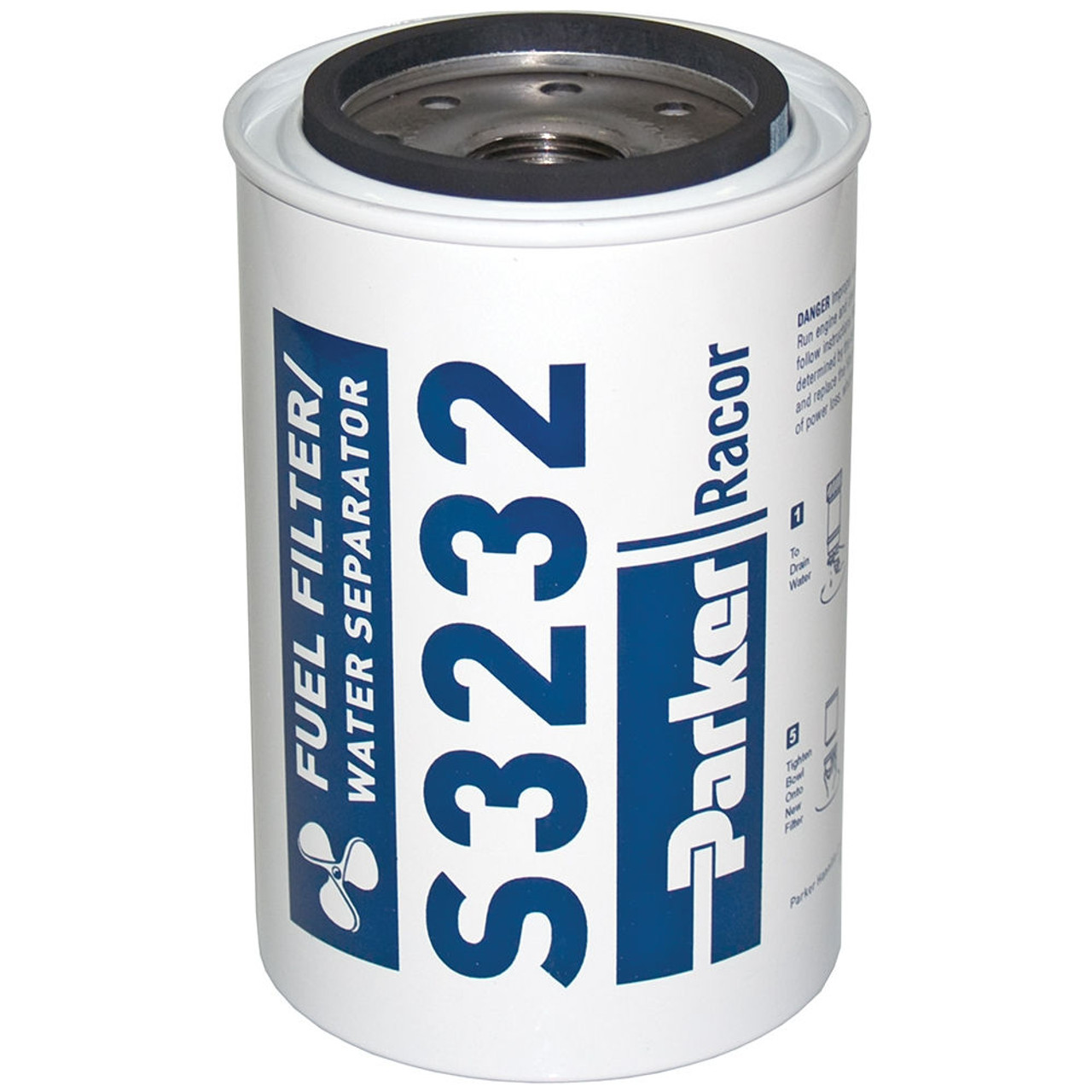 Racor 1 in. Marine Aquabloc Replacement Gasoline Filters - S3232 - 12 Qty