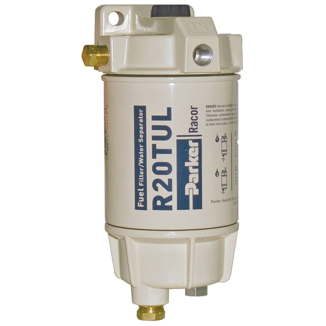 Racor 1/4 in. 30 GPH Aquabloc Marine Spin-On Type Diesel Fuel