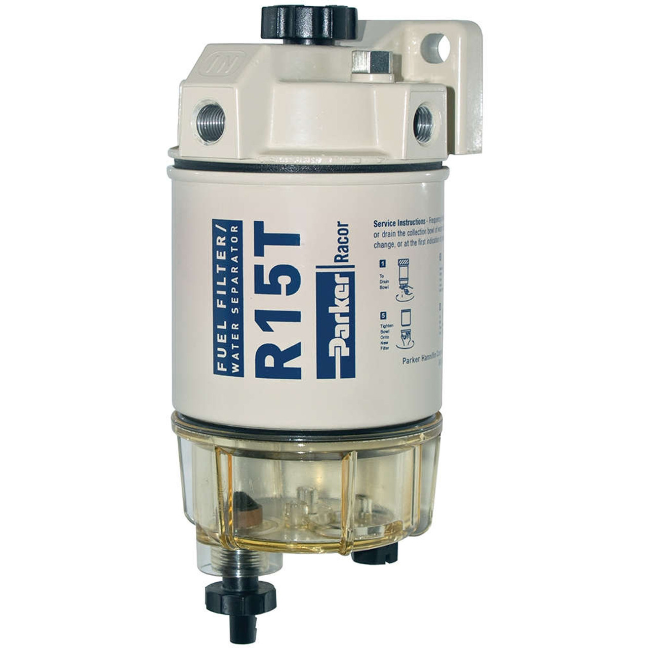 Racor 200 Series 15 GPH Low Flow Diesel Fuel Filter/Water Separator 215  Filter Assembly