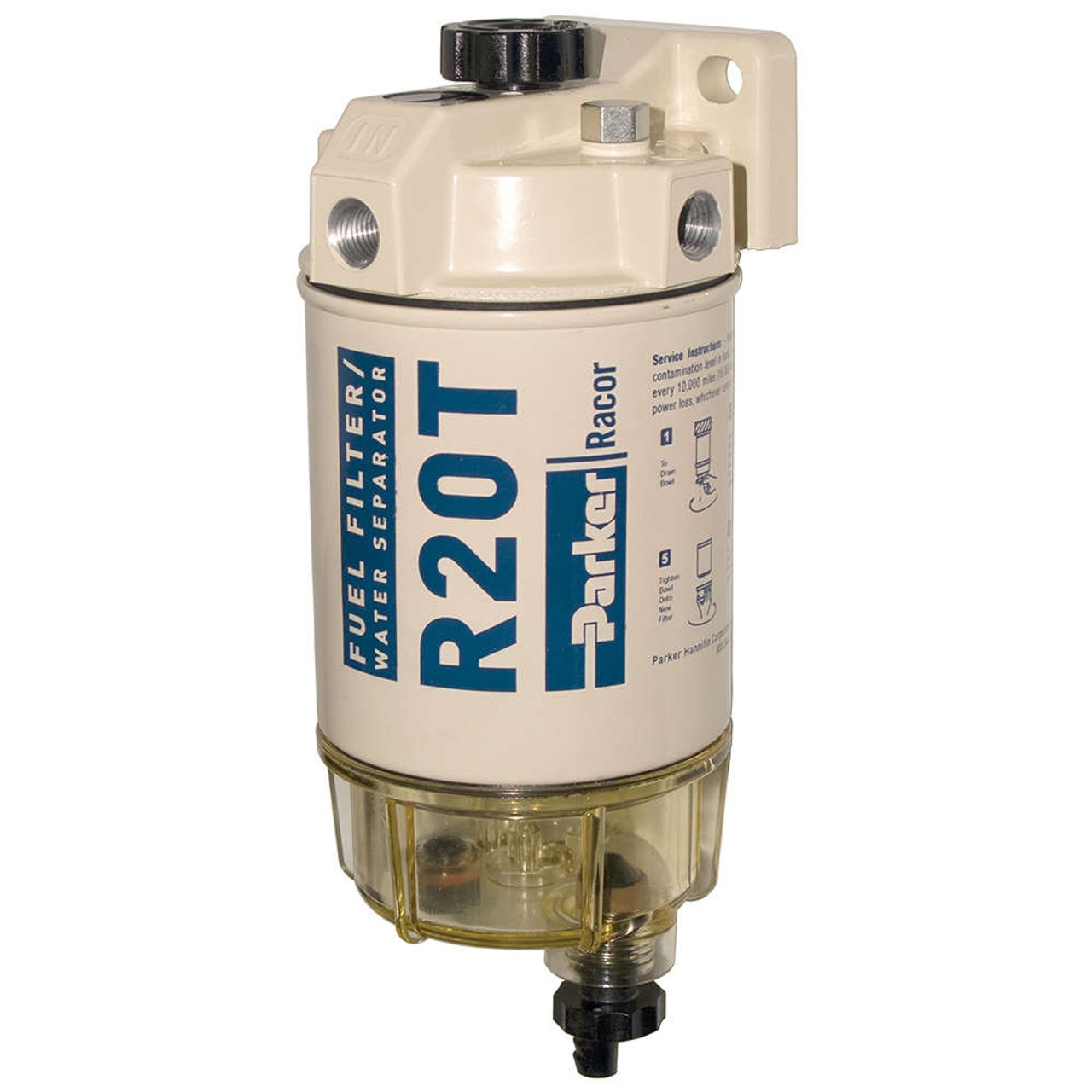 Racor 200 Series 30 Gph Low Flow Diesel Fuel Filter  Water