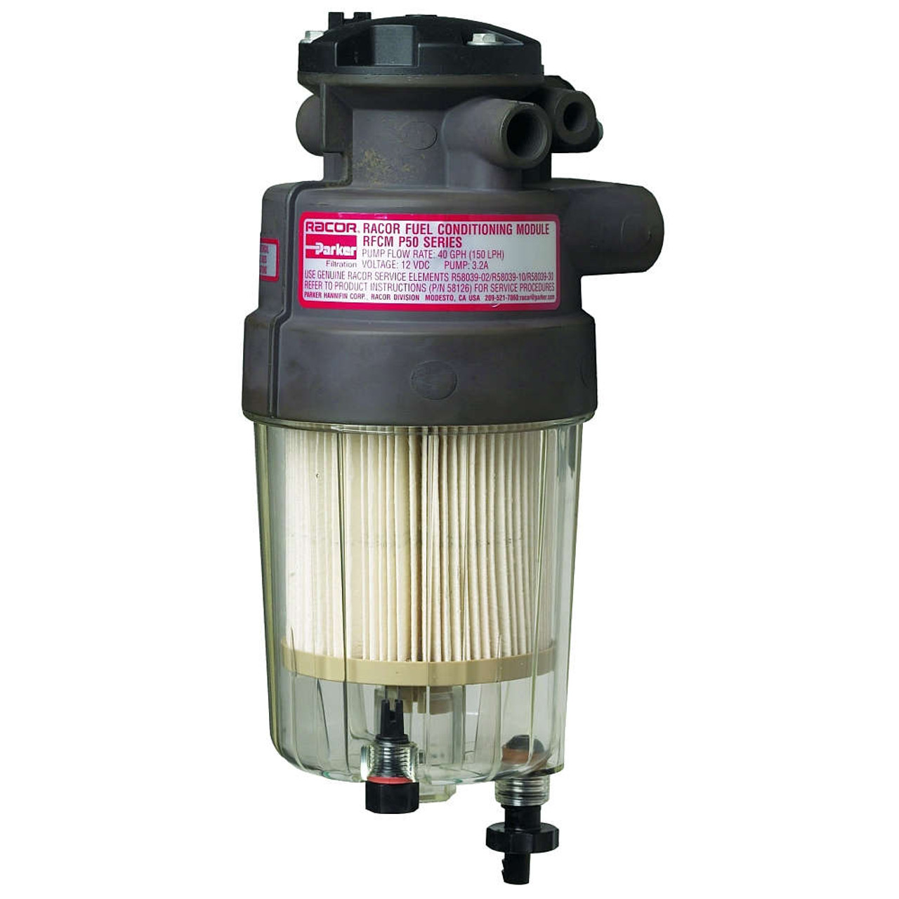 Racor P Series 50 GPH Diesel Integrated Fuel Filter/Water Separator P5  Filter Assembly -