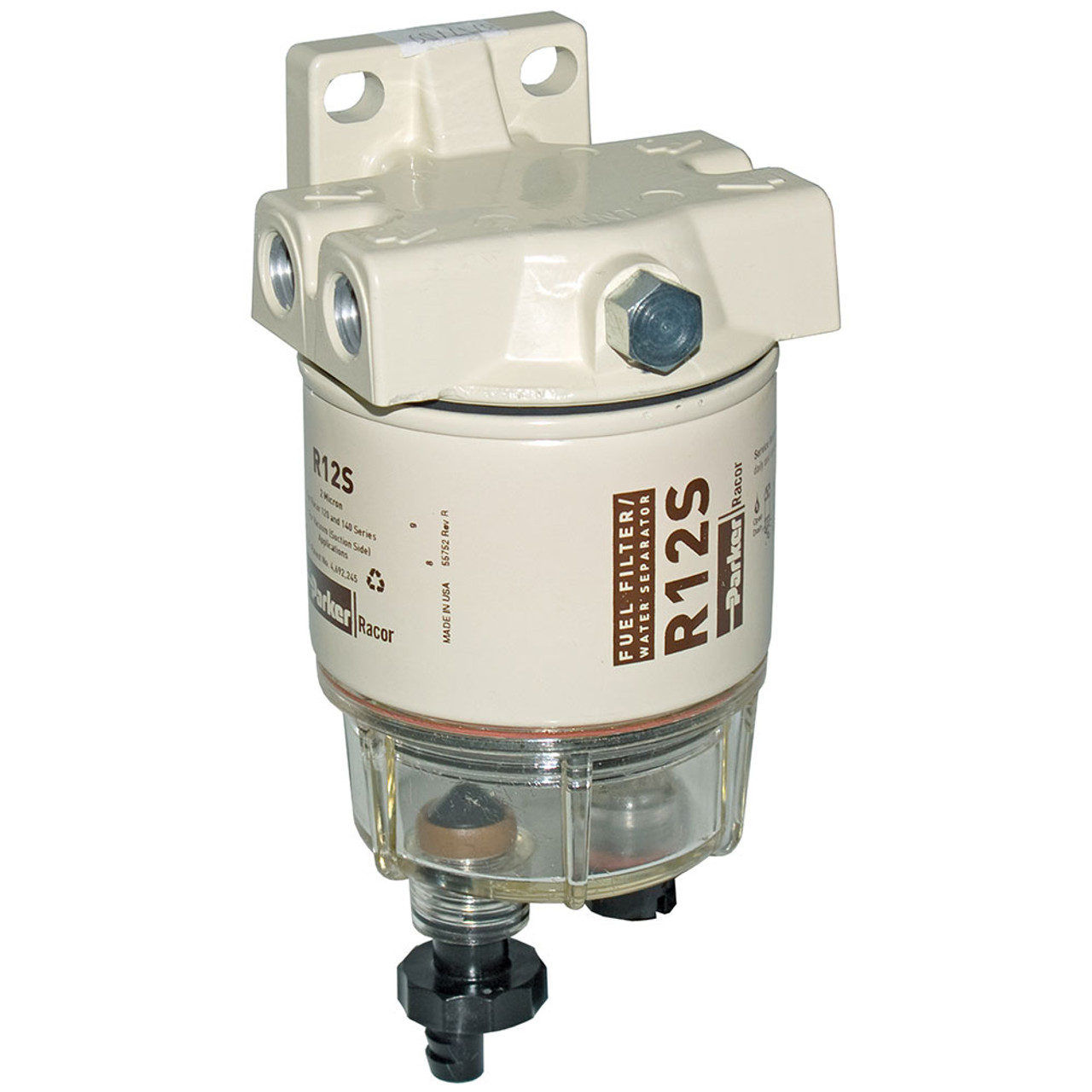 Racor 120A Low Flow Fuel Filter/Water Separator Filter Assembly - 2 Micron