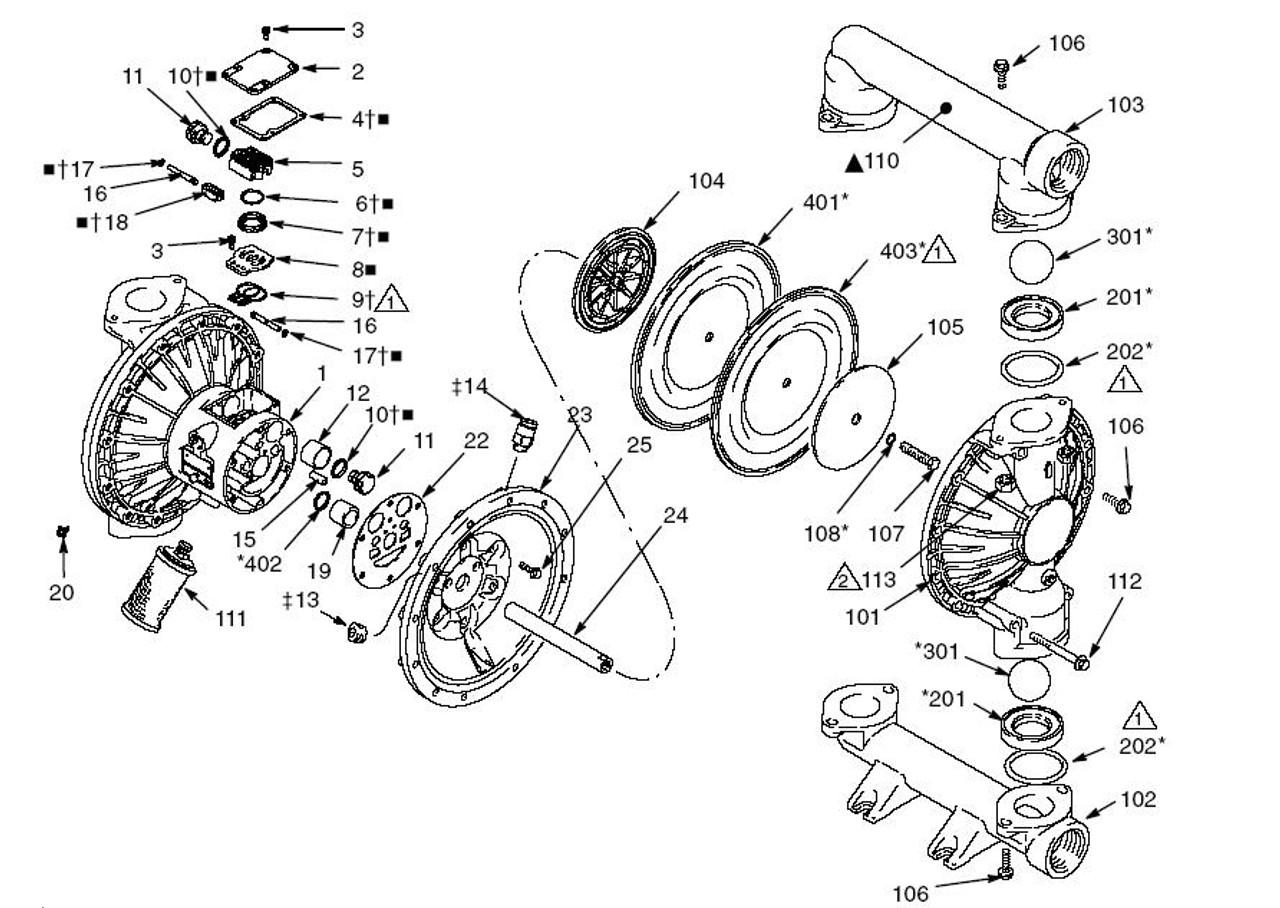 Graco husky 2150 diaphragm pump air motor kit john m ellsworth co graco husky 2150 diaphragm pump air motor kit john m ellsworth co inc ccuart Gallery