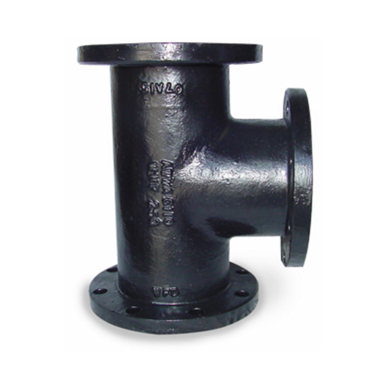 Smith cooper cast iron in tee flanged fittings