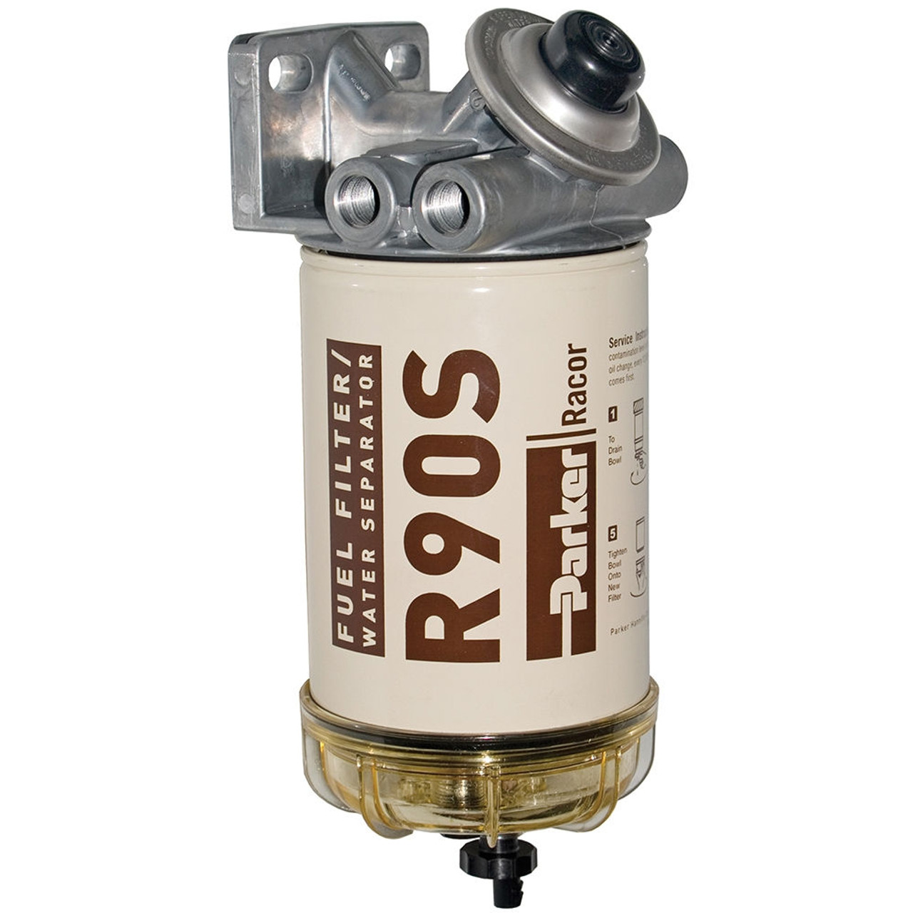 Racor 400 Series 90 GPH Diesel Spin-On Fuel Filter - 2 Micron - 6