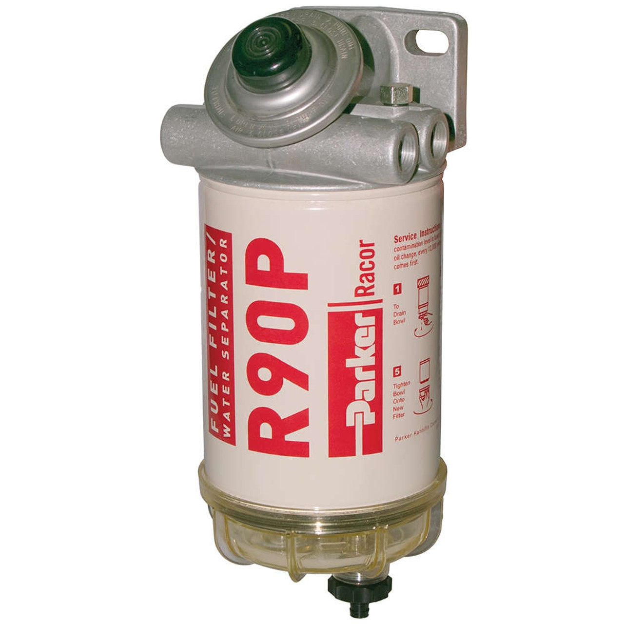 Racor 400 Series 90 GPH Diesel Spin-On Fuel Filter - 30 Micron - 6