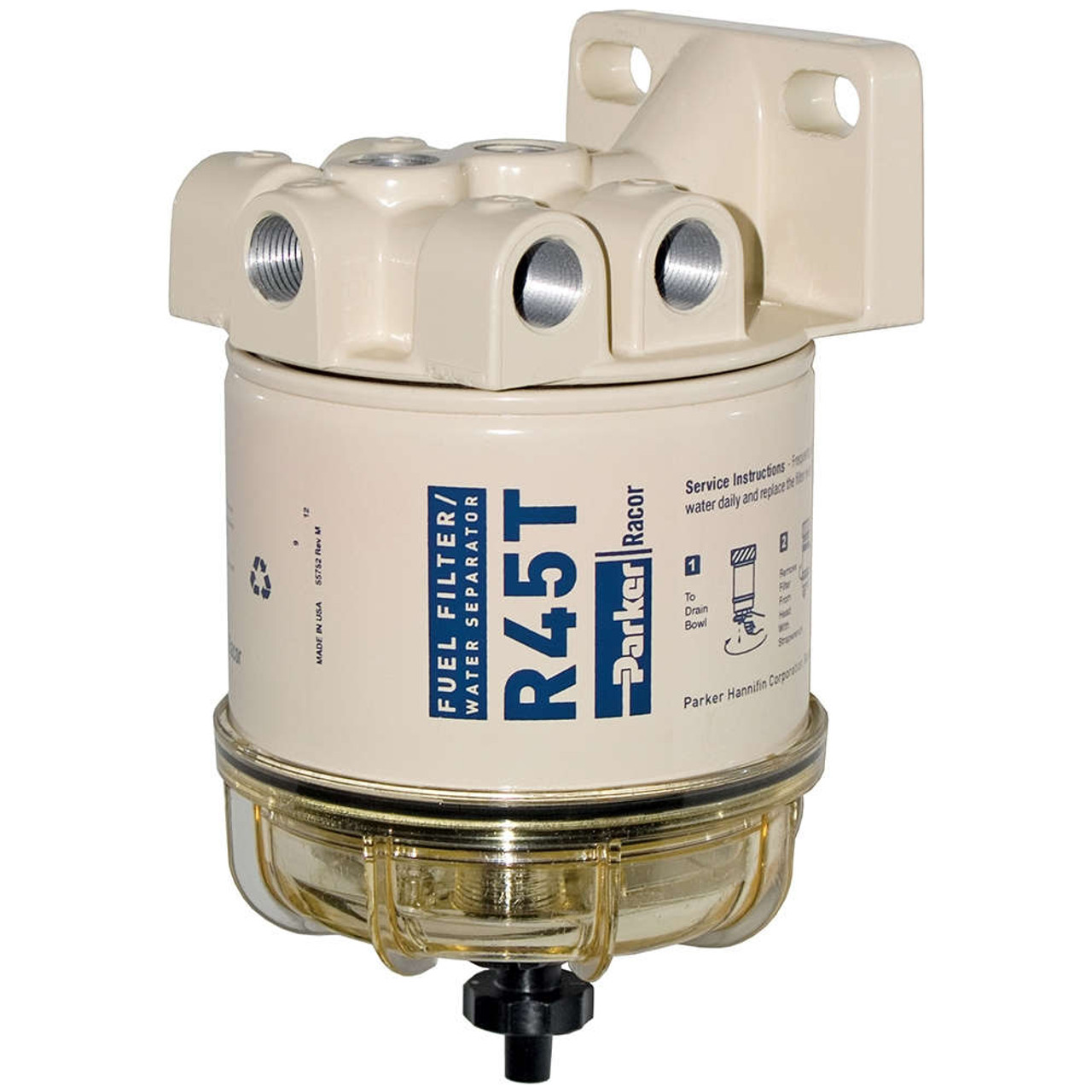 Racor 600 Series 45 GPH Diesel Spin-On Fuel Filters - 10 Micron - 6