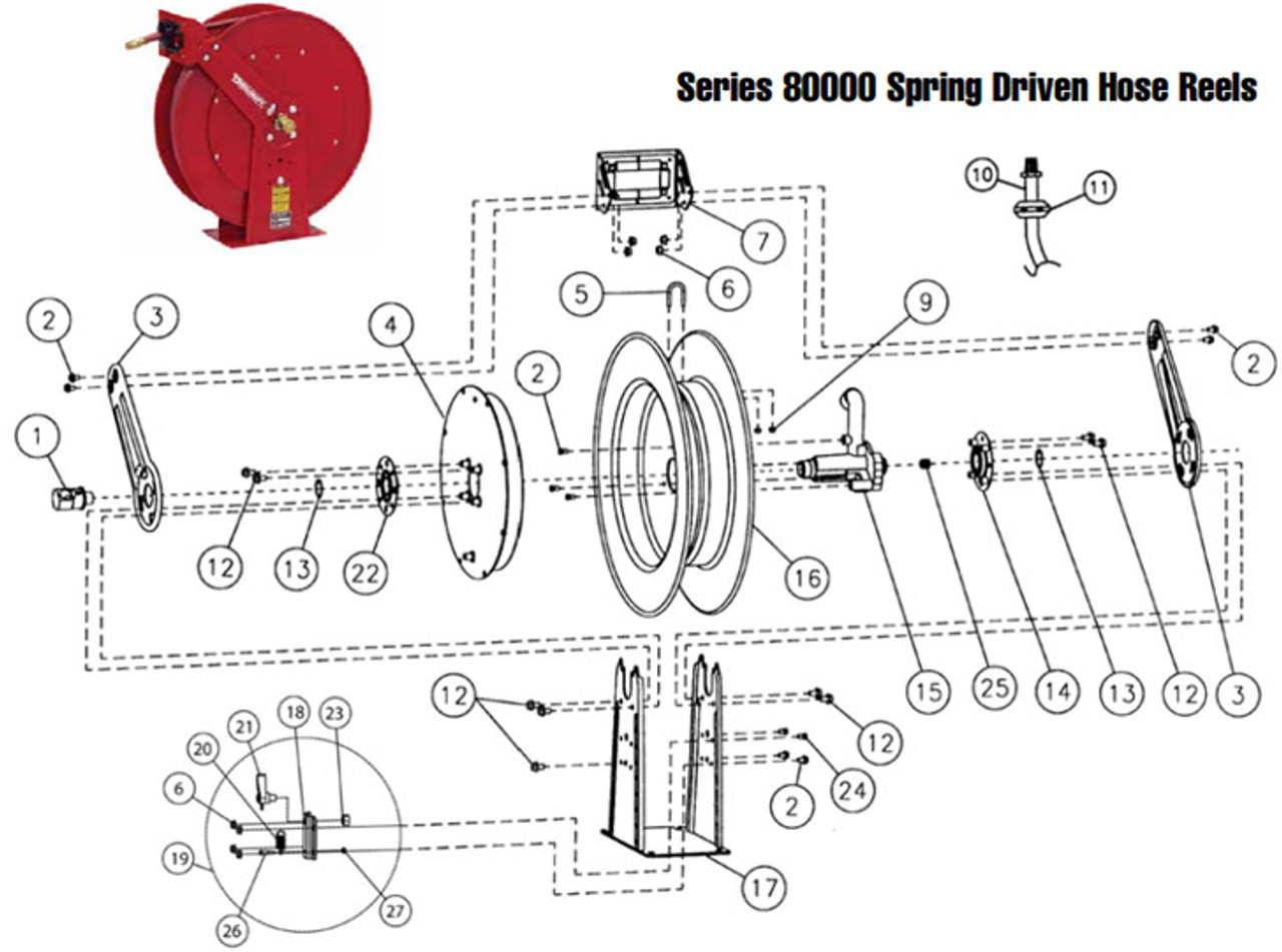 Reelcraft Series 80000 Reels Replacement Parts John M