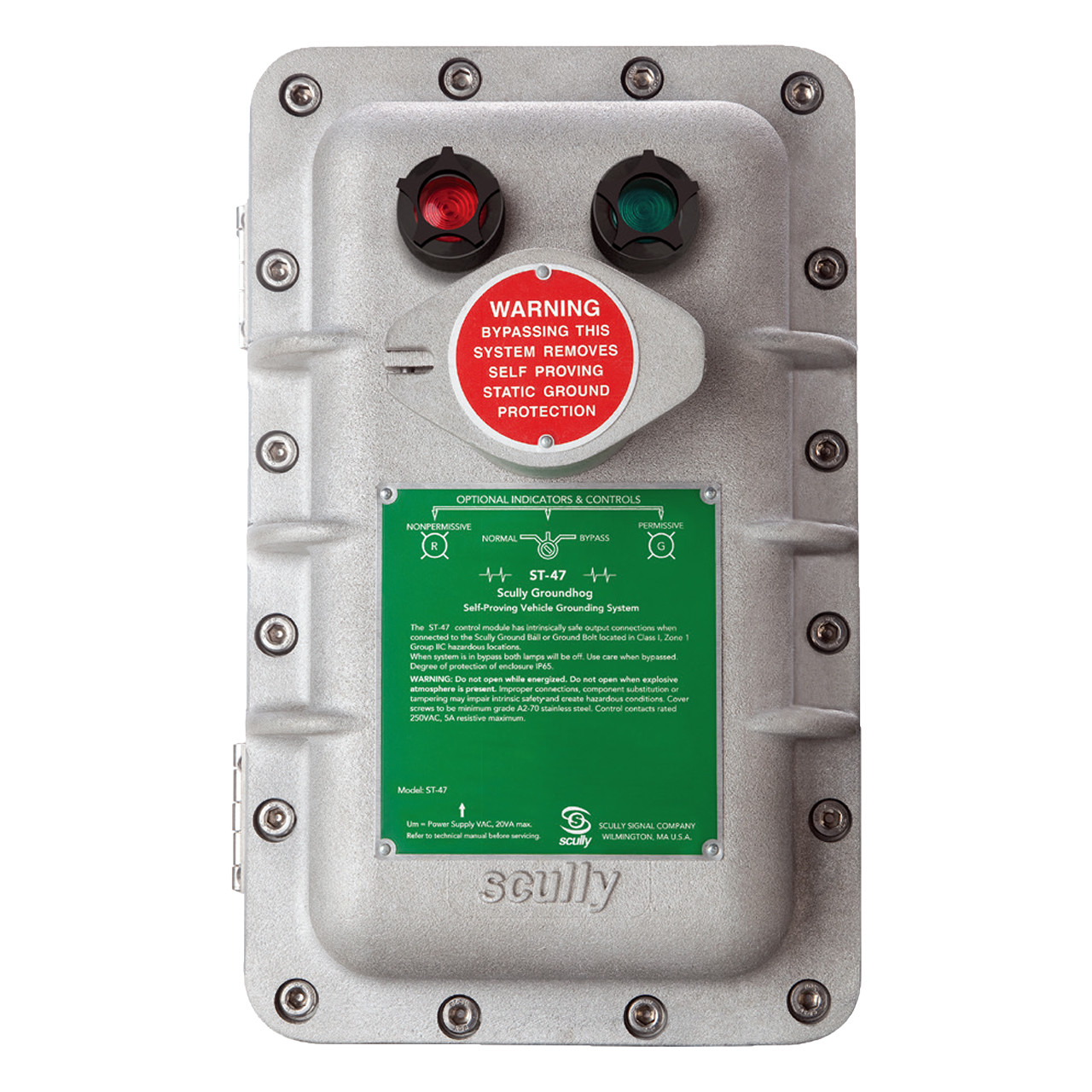 Scully ST-47 Groundhog Static Ground Proving Control Monitor w/ Lamps and  Key Protected