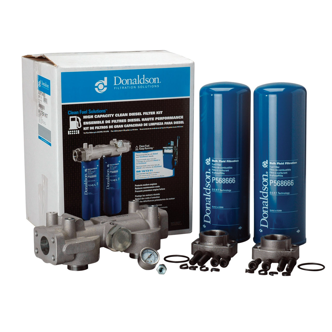 Donaldson High Capacity Clean Diesel Kit 4 Micron John M Velcon Filters Fuel Aviation