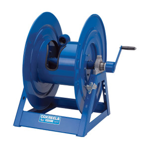 Coxreels 1185 Series Large Capacity Hand Crank Hose Reels - 1 1/2 in. x 100 ft. - In-Line