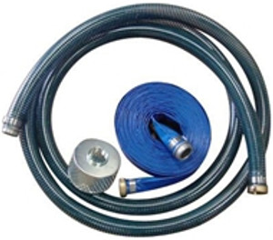 Kuriyama PVC Water Suction & Discharge Hose w/Strainer & Pin Lugs - 1 1/2 in.
