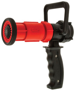 Dixon 1 1/2 in. NPSH Red Thermoplastic Ball Shutoff Nozzle 70 GPM