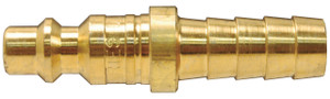Dixon Air Chief 1/4 in. Brass  Industrial Quick-Connect Standard Hose Barb Plug - 1/4 in. Body Size