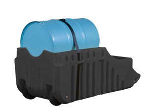 Justrite EcoPolyBlend Spill Containment Caddy - Black