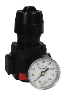 Dixon Wilkerson 1/4 in. Compact Regulators With Gauge - 71.5 SCFM