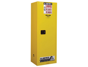 Justrite Slimline Style Sure-Grip® EX Safety Cabinet - 65 in. x 23 1/4 in. x 18 in. - Self-Close - 22 Gallons