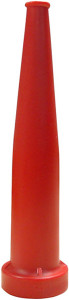 Dixon 1 1/2 in NPSH Red Polycarbonate Plain Hose Nozzles