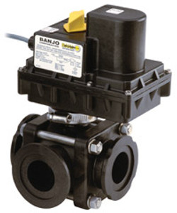 Banjo 2 in. Full Port ON/OFF Electric Ball Valves w/ 3/4 to 1 1/4 Second Response Time
