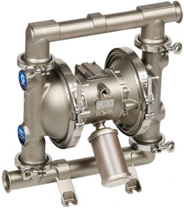Graco 1590 FDA-Compliant 2 in. Double Diaphragm Sanitary Pumps w/ SST/PTFE O-Rings, PTFE Ball & Diaphragm