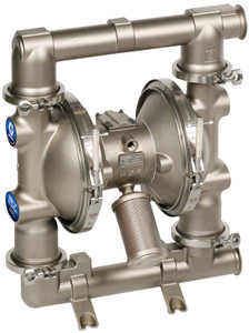 Graco 2150 FDA-Compliant 2 1/2 in. Double Diaphragm Sanitary Pumps w/ PTFE O-Rings & Balls, Overmolded PTFE Dia.
