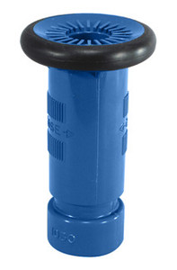 "Dixon 1 1/2"" NH (NST) Blue Thermoplastic Refinery Fog Nozzle - 75 GPM"
