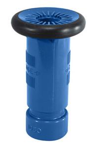 "Dixon 1 1/2"" NPSH Blue Thermoplastic Refinery Fog Nozzle - 75 GPM"