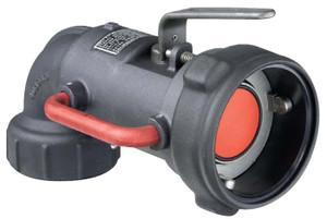 Emco Wheaton 3 in. Aluminum 90º Dry-Break Coupler w/ Buna-N Seals