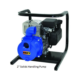 AMT/Gorman Rupp  Cast Iron Solids Handling Pump - 3 in. NPT - Honda 8 HP - Viton - 3/4 in.