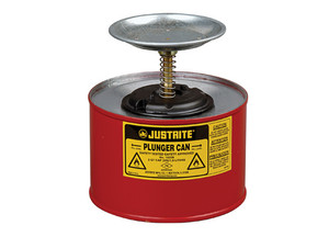 Justrite 10208 Plunger Can - 2 Quarts - Red
