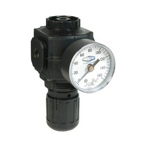 Dixon Norgren Series 1 1/4 in. Compact Regulator With Gauge - 91 SCFM