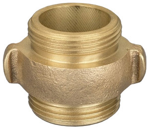 Dixon Powhatan  1 1/2 in. NH(NST) x 1 1/2 in.NH(NST) Rocker Lug Brass Double Male Adapters