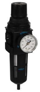 Dixon Wilkerson 3/8 in. Compact Filter/Regulator Transparent Bowl w/Guard, Auto Drain - 117 SCFM