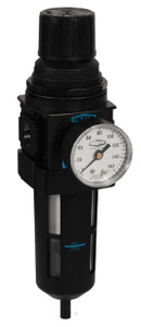 Dixon Wilkerson 3/8 in. Compact Filter/Regulator Transparent Bowl w/Guard, Manual Drain - 117 SCFM