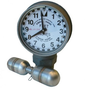 Morrison Bros. 2 in. Male NPT 818 Clock Gauge w/ Standard Float - Feet & Inches