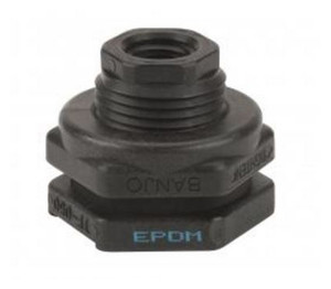 Banjo 2 in. Poly Bulkhead EPDM Tank Fitting