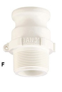 Banjo 3/4 in. FDA Male Adapter x Male NPT - Part F