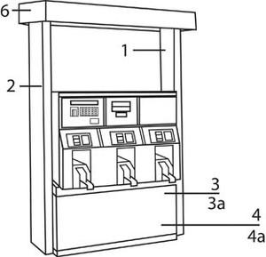 "Gilbarco Advantage Outside Trim Part - Primed Lower Door, 36"" Frame - Primed Lower Door, 36"" Frame - 4a"