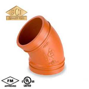 Smith Cooper 6 in. Grooved 45° Elbow - Standard Radius