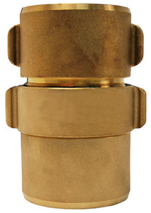 Dixon Powhatan 1 1/2 in. NPSH Brass Expansion Ring Rocker Lug Coupling for Double Jacket - 2 1/16 in. Bowl Size