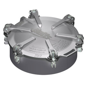 Betts 20 in. Aluminum Cam-Latch Manholes w/ Steel Weld Collar & Zinc Plated Hardware