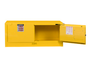 Justrite Sure-Grip® EX Classic Manual Close 30 Gal Yellow Safety Cabinets For Flammables